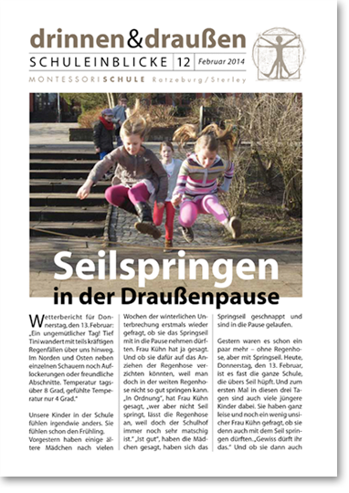 Seilspringen in der Draußenpause